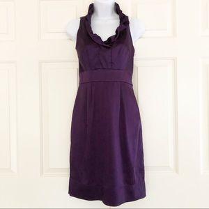 Taylor Satin Ruffle Sleeveless Dress Size 4